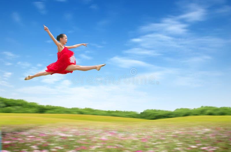 Menina da dança fotografia de stock