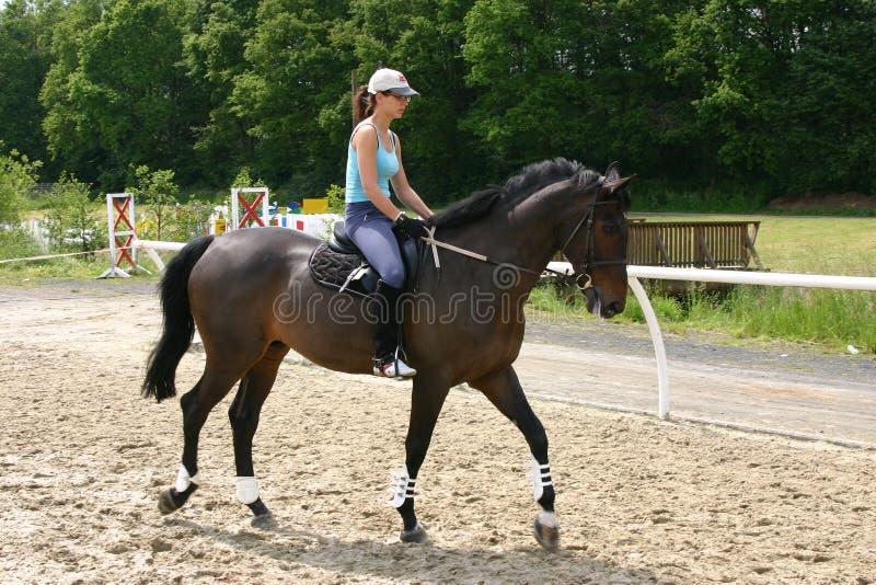 Menina da equitação imagem de stock royalty free