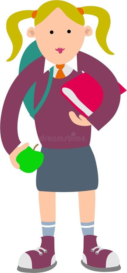 Menina da escola ilustração royalty free