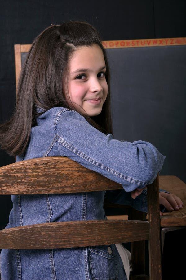 Menina da escola imagem de stock royalty free
