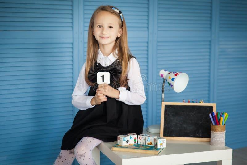 Menina da escola De volta à escola fotos de stock royalty free