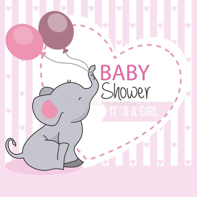 Menina da festa do bebê ilustração royalty free