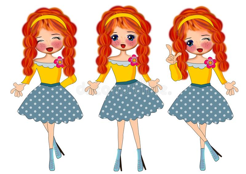 Download Menina da forma ilustração stock. Ilustração de meninas - 107528615