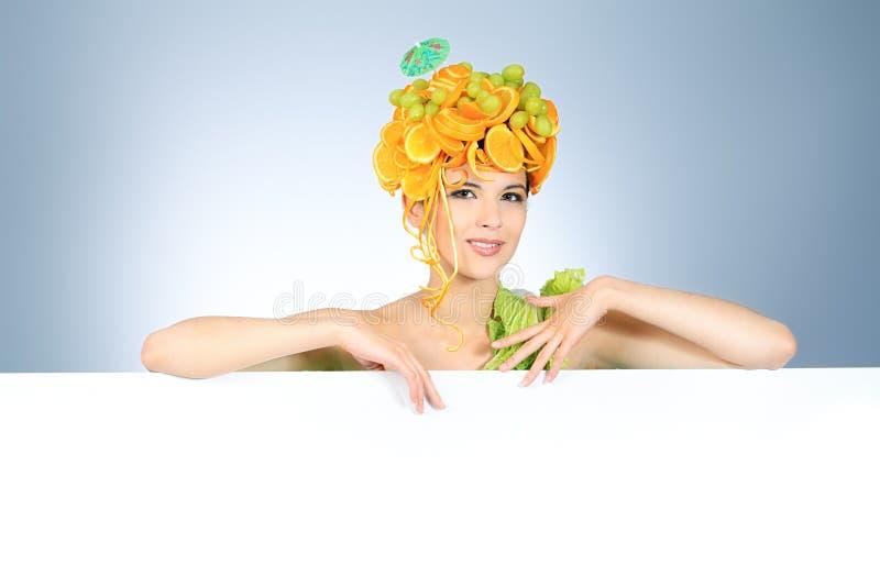 Menina da fruta fotografia de stock