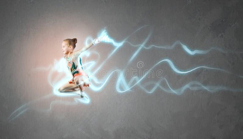 Menina da ginasta foto de stock