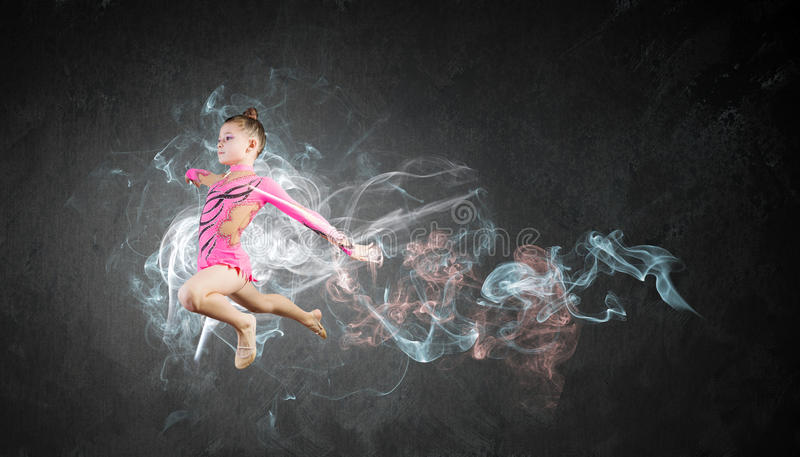 Menina da ginasta fotografia de stock