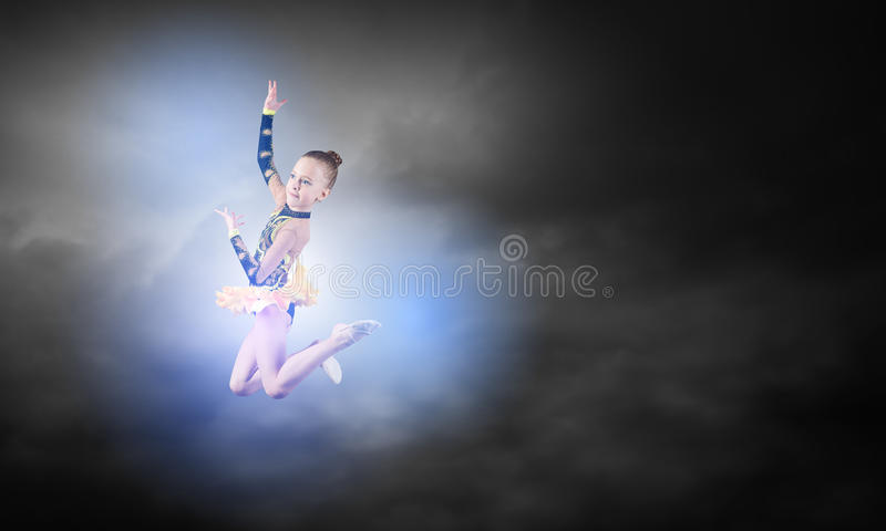 Menina da ginasta imagem de stock royalty free