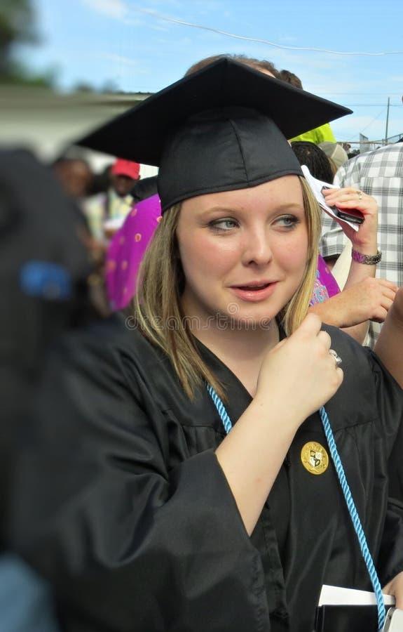 Menina da graduação imagem de stock