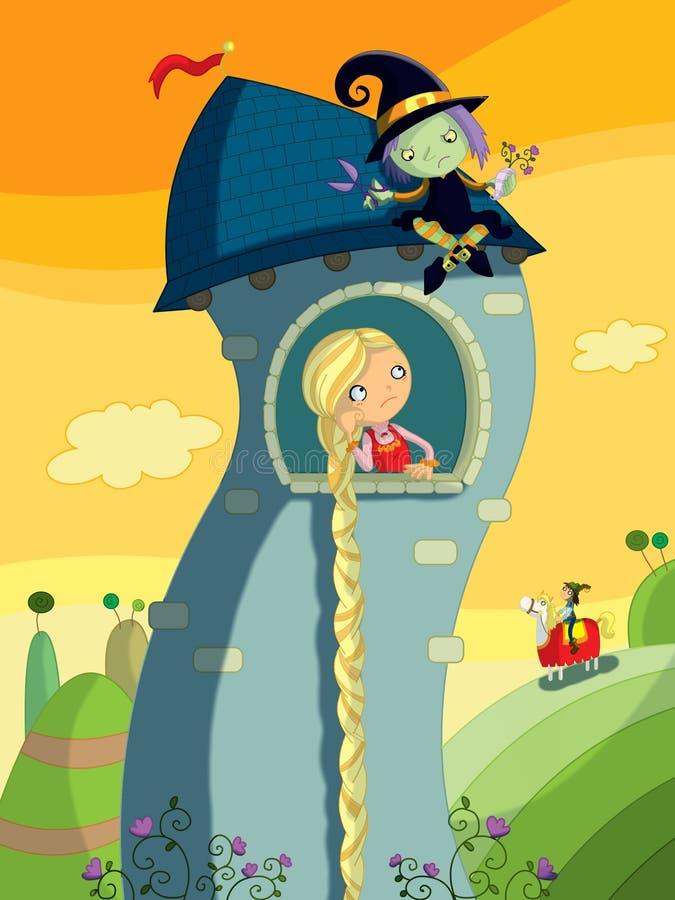 Rapunzel ilustração stock