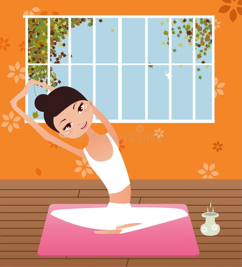 Menina da ioga ilustração do vetor