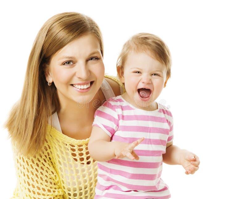Menina da mãe e da criança, mamã feliz com filha do bebê, criança infantil imagens de stock royalty free