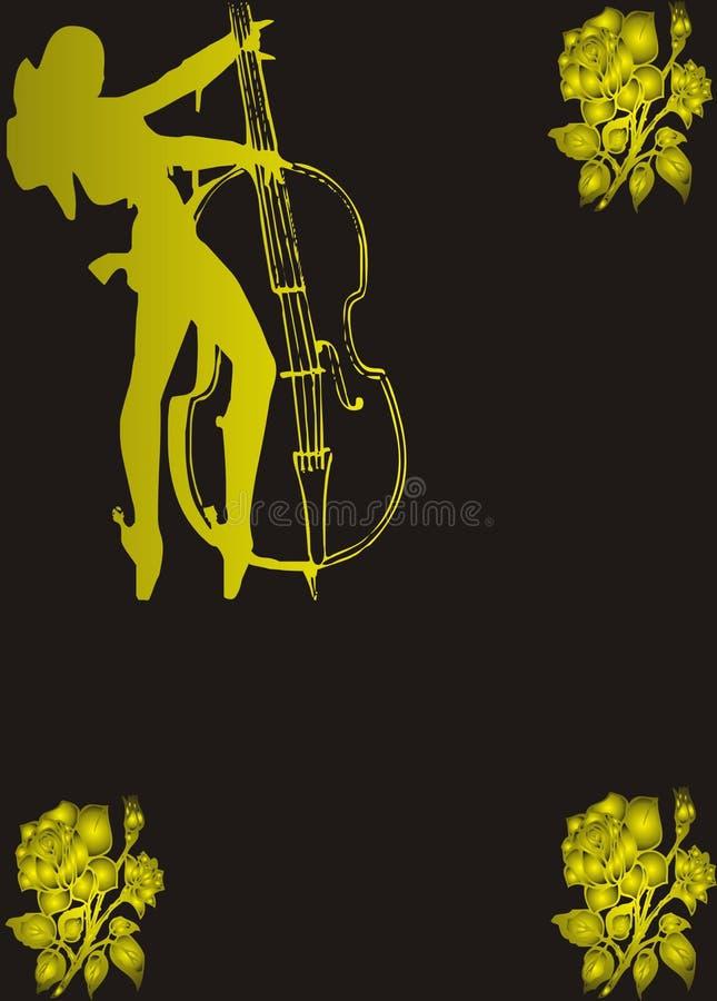 Menina da música ilustração do vetor