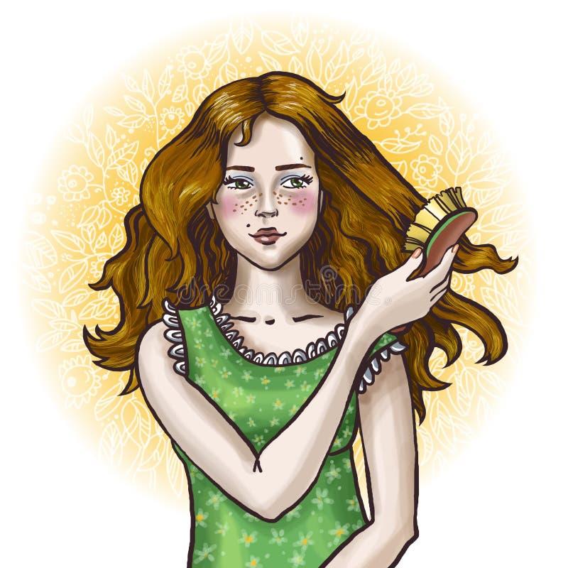 Menina da manhã ilustração stock