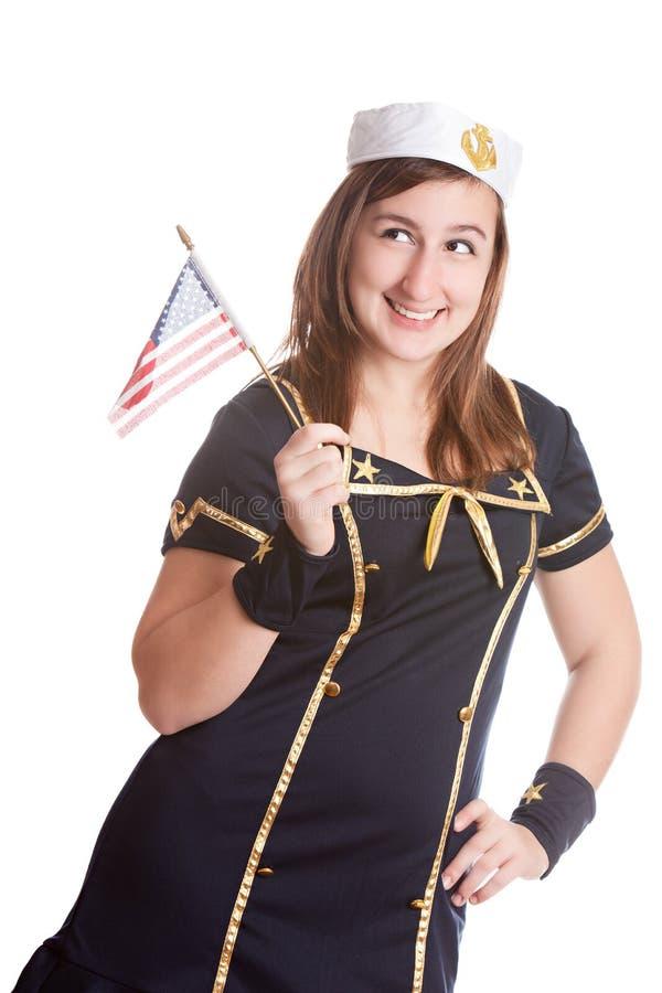 Menina da marinha imagens de stock royalty free