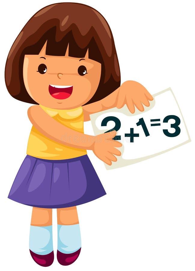Menina da matemática ilustração stock