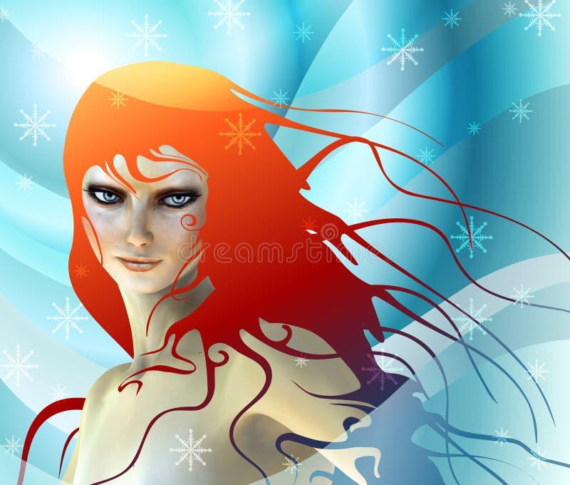 Menina da neve ilustração stock