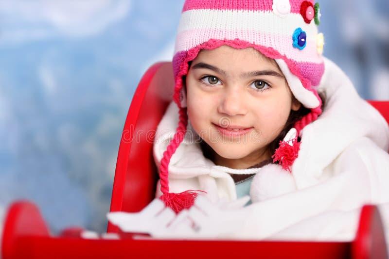 Menina da neve fotografia de stock