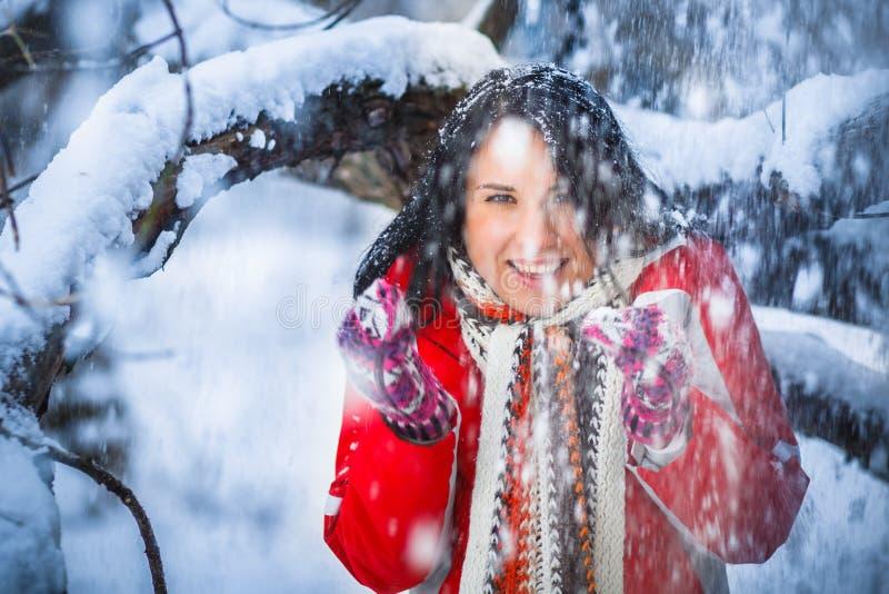 Menina da neve, retrato imagens de stock