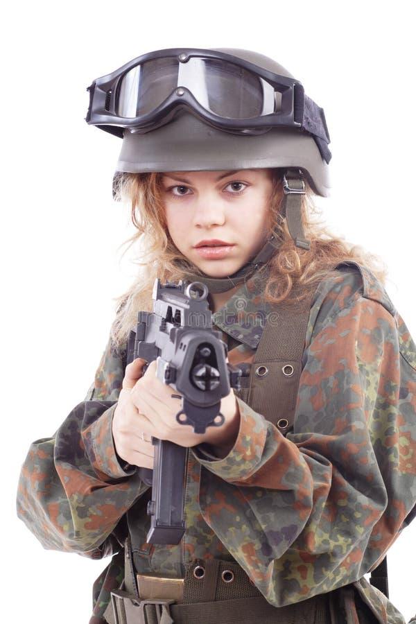 Menina da OTAN foto de stock