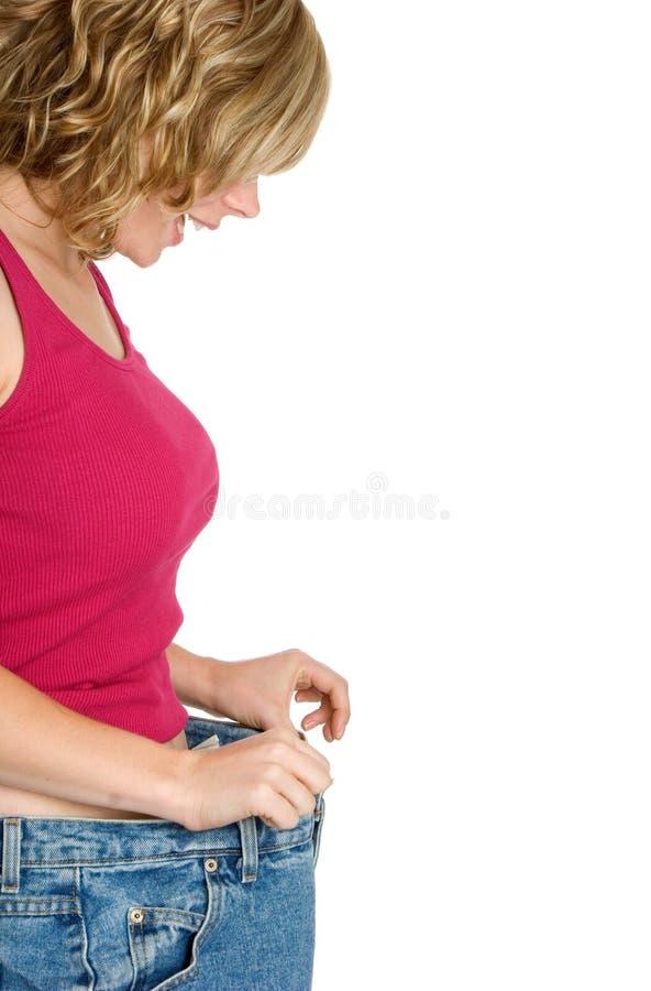 Menina da perda de peso imagem de stock