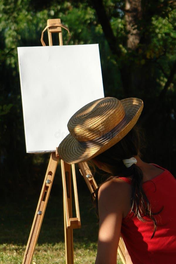 Menina da pintura fotos de stock