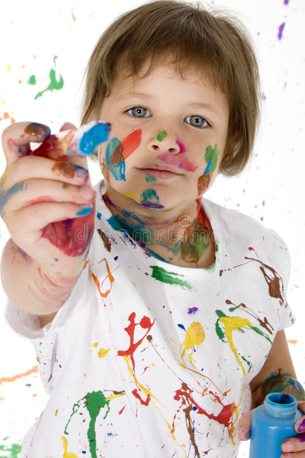 Menina da pintura imagens de stock