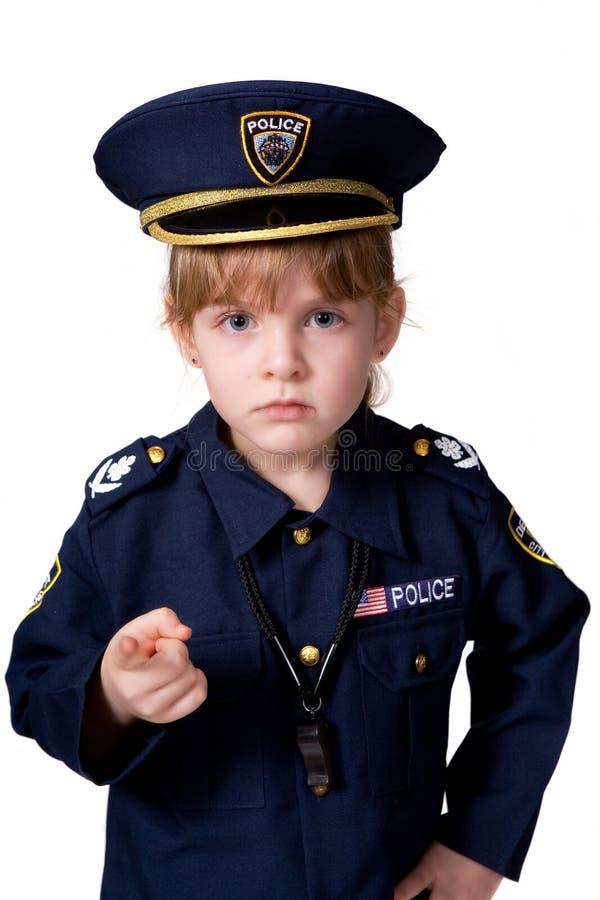 Menina da polícia no dever imagens de stock royalty free