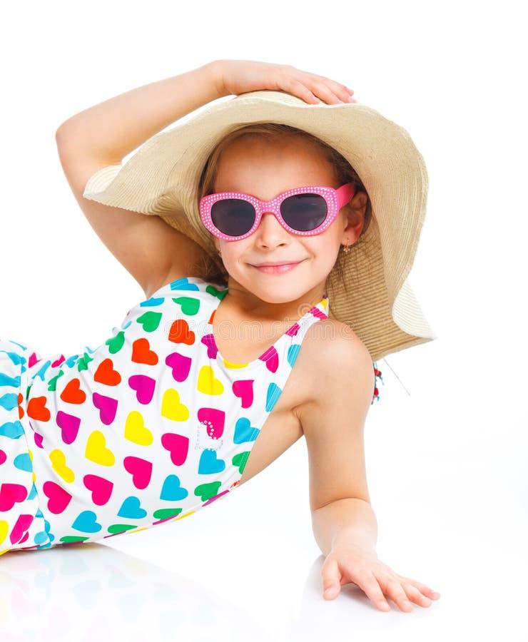 Menina da praia. foto de stock royalty free