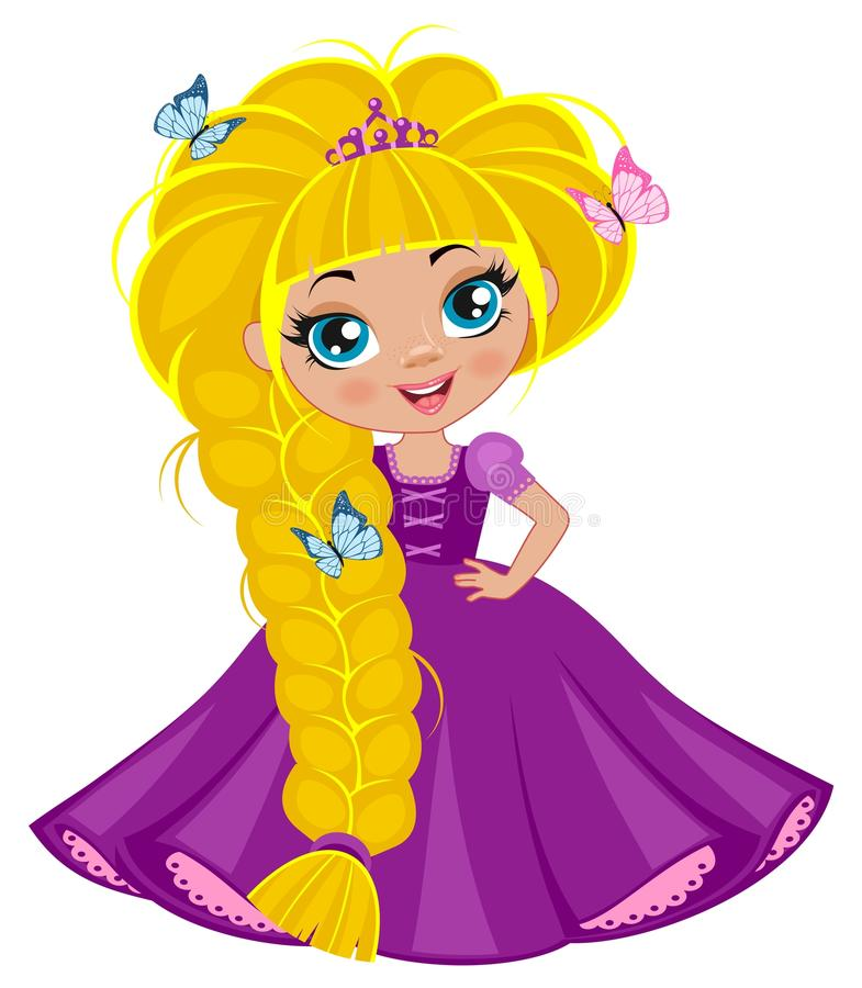 Menina da princesa ilustração stock