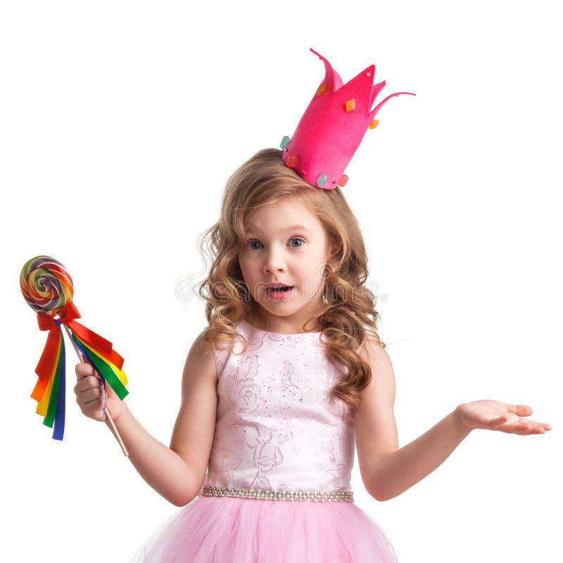Menina da princesa dos doces fotografia de stock