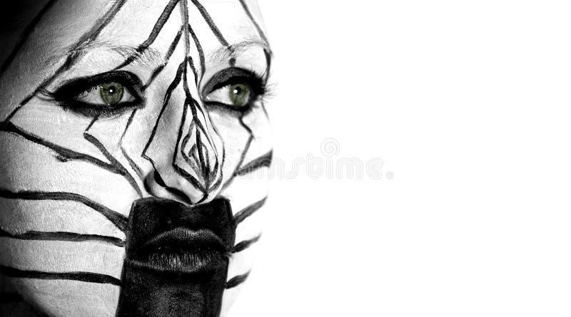 Menina da zebra imagem de stock