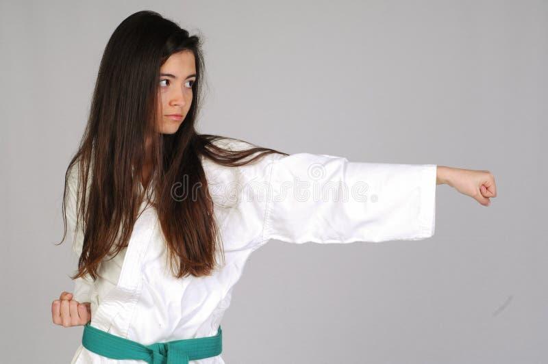 Menina das artes marciais imagens de stock