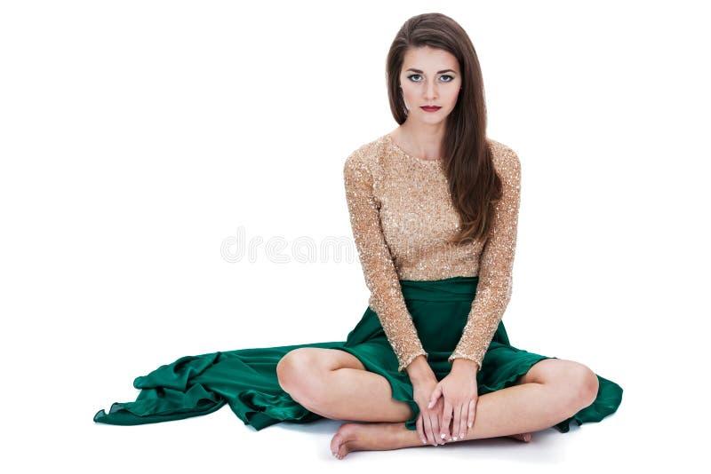 Menina de assento fotografia de stock royalty free