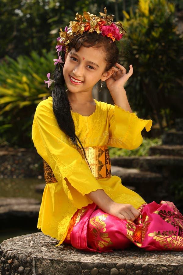 Menina de Bali imagens de stock royalty free