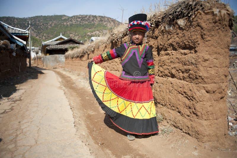 Menina de China, Yunnan Yi imagem de stock