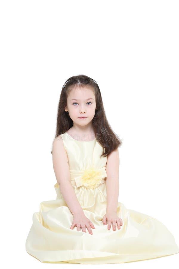 Menina de cinco anos imagem de stock royalty free