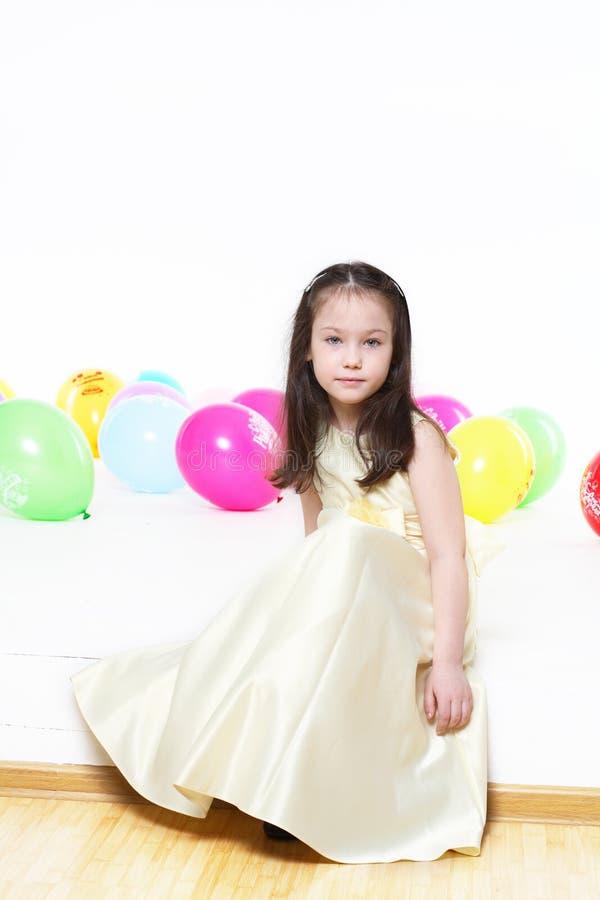 Menina de cinco anos imagens de stock royalty free