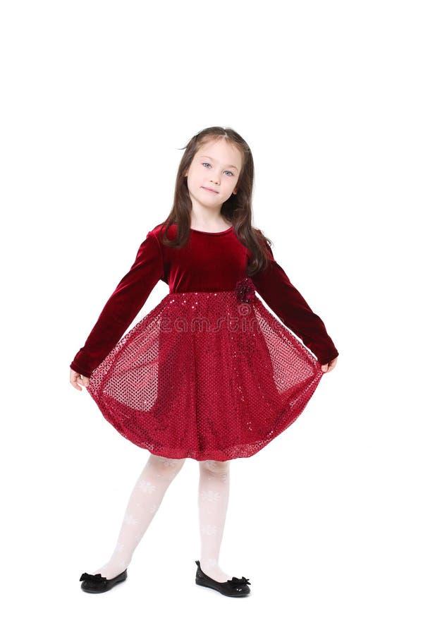 Menina de cinco anos com cabelo longo fotografia de stock royalty free