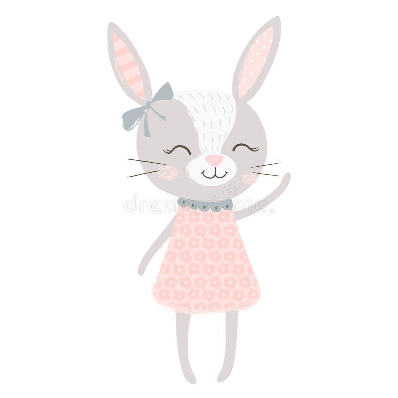 Menina de coelho bonito ilustração do vetor