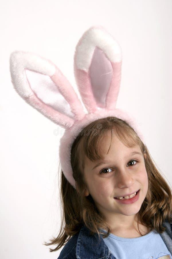 Menina de coelho de Easter imagem de stock