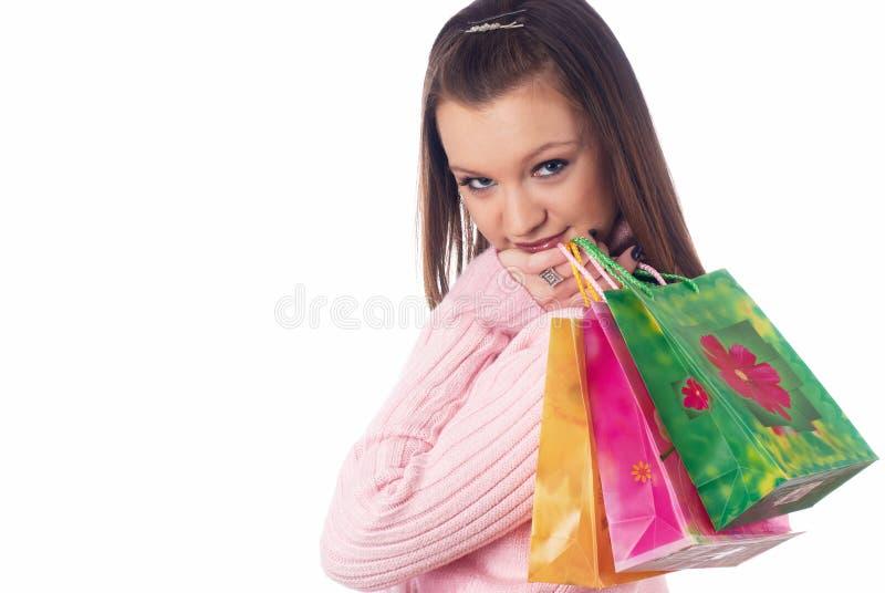 Download Menina de compra foto de stock. Imagem de humano, grupo - 12813624