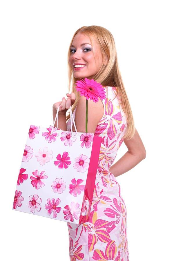 Menina de compra foto de stock