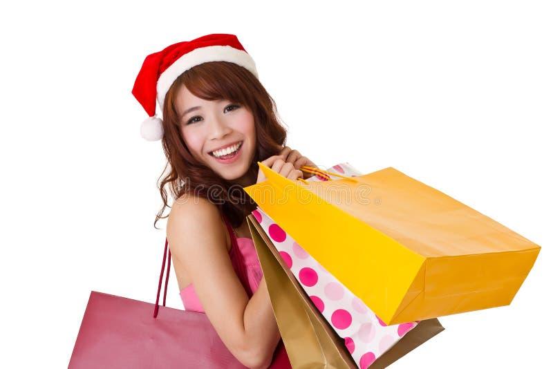 Menina de compra feliz imagem de stock royalty free