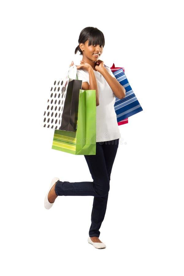 Menina de compra indiana imagem de stock