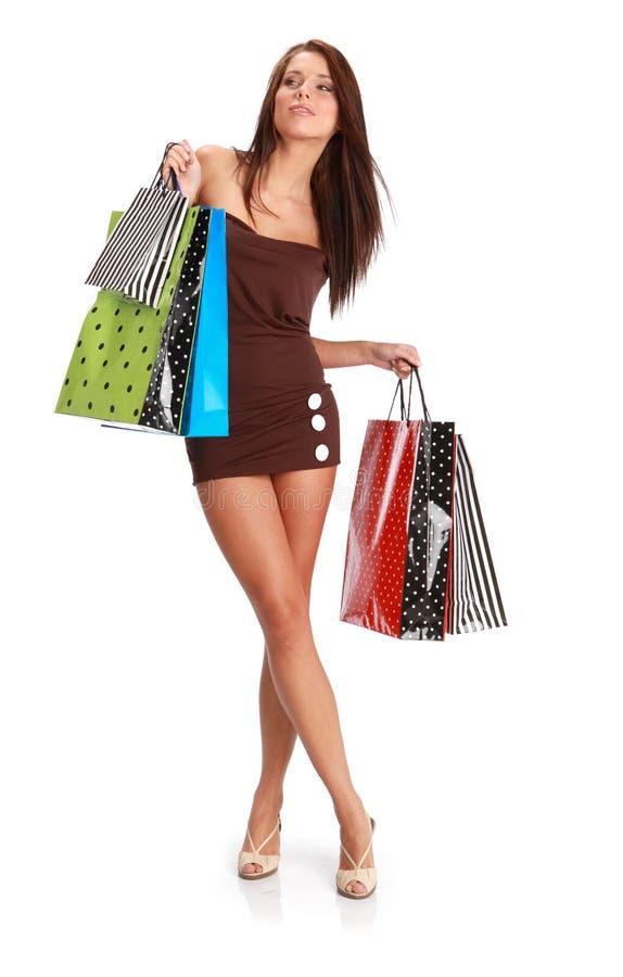 Menina de compra 'sexy' imagens de stock