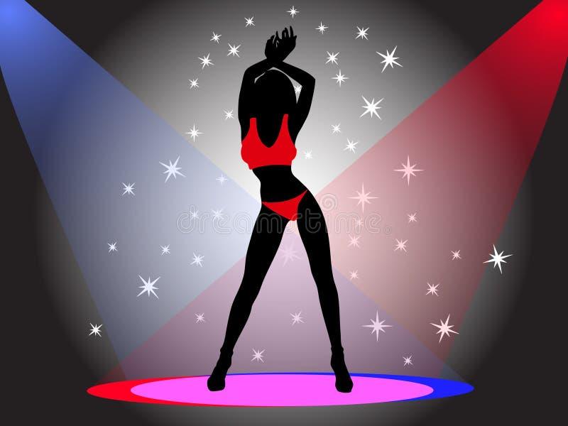 Menina de dança ilustração stock