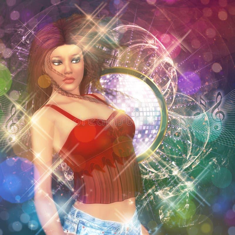 Menina de dança bonita ilustração royalty free