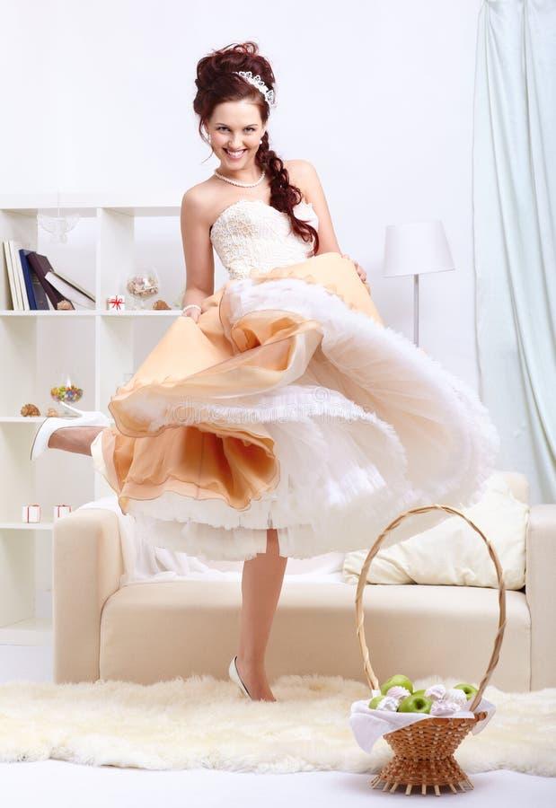 Menina de dança retro bonita imagens de stock