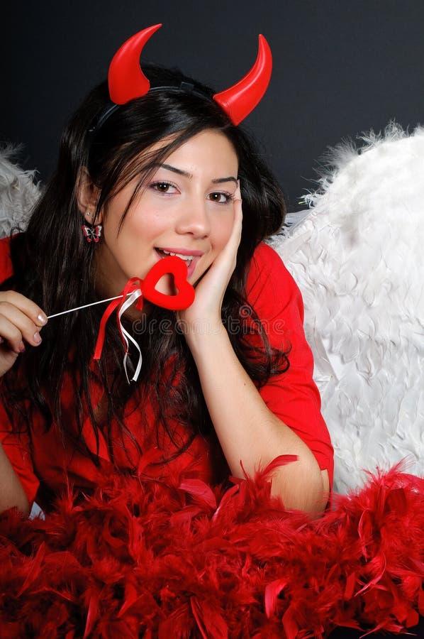 Menina de dia do Valentim foto de stock royalty free
