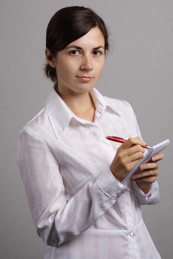 Menina de escritório imagem de stock royalty free